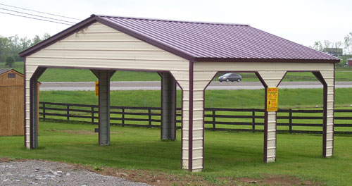 Dachkonstruktion Carport Vertical Metal Carports - Vertical Roof Carport