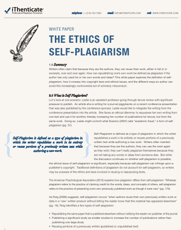Unethical Behavior In Business Definition Examples What Is Self Plagiarism And How To Avoid It