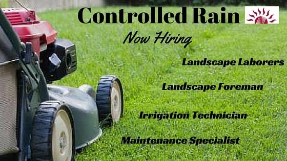 Hiring Foreman, Laborers, Maintenance and Irrigation Technicians