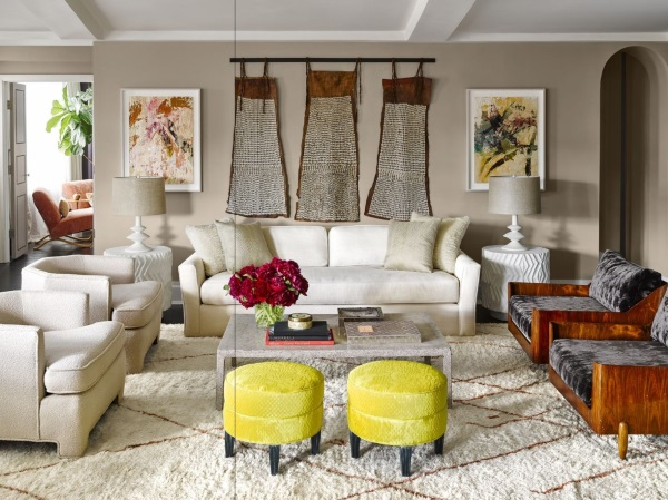 Elle Décoru0027s 5 Best Rooms with Contemporary Rug in March 2016 - elle decor living rooms