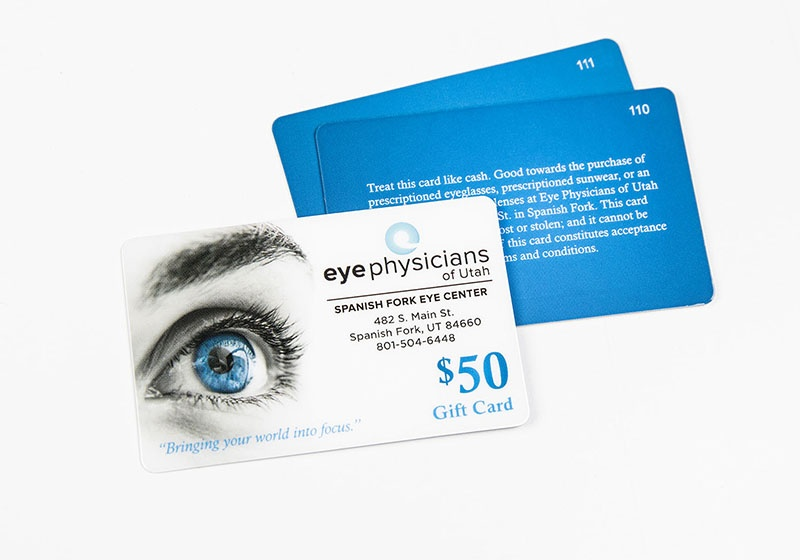 Optometry Business Cards , VIP Cards, Gift Cards and More