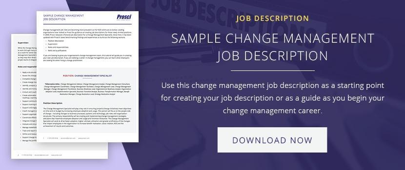 4 C\u0027s of a World-Class Change Manager - management job description