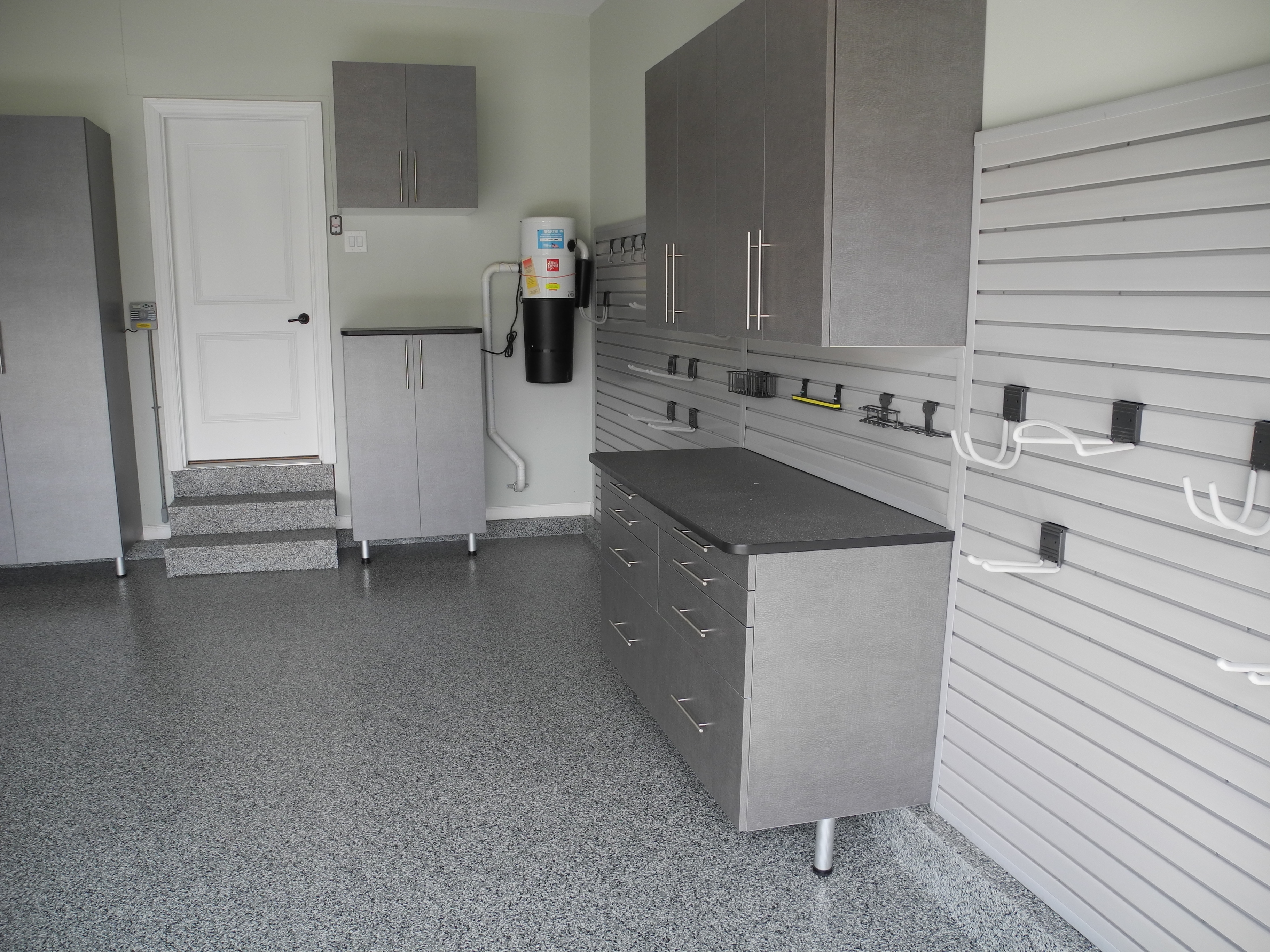 Garage Cabinets By George Custom Garage Cabinets And Epoxy Floor Ocean County