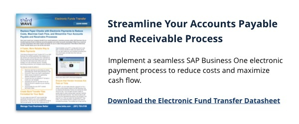 Electronic Funds Transfer (EFT) SAP Business One Third Wave Module