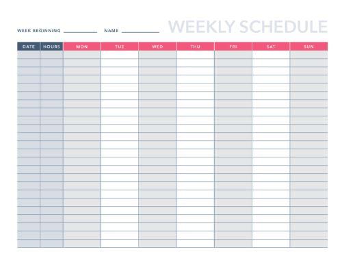 9 Free Agendas/Schedules Templates for Excel HubSpot