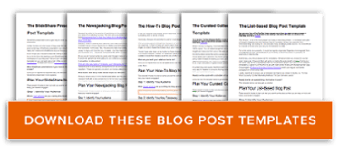 get free blog post templates