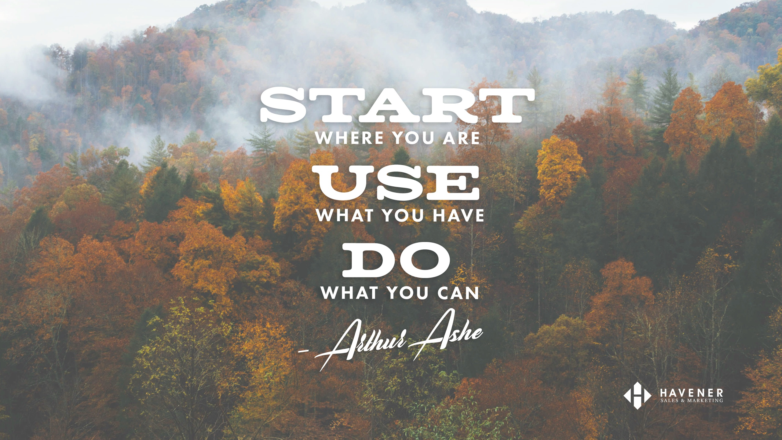 November's Desktop Wallpaper + How Gratitude Helps to Achieve Goals | Havener Capital