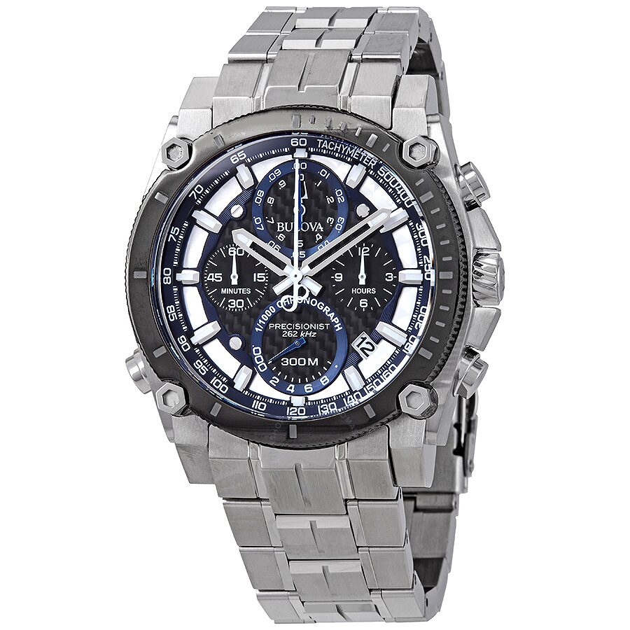 Steel Watch Bulova Precisionist Men S Chronograph Stainless Steel Watch 98b316