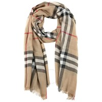 Burberry Checked Wool and Silk-blend Scarf - Apparel ...