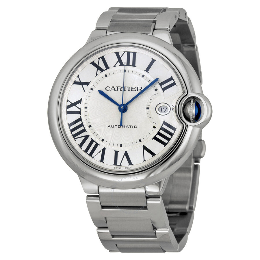 Cartier Watches Cartier Ballon Bleu De Cartier Silver Opaline Dial Men S Watch W69012z4