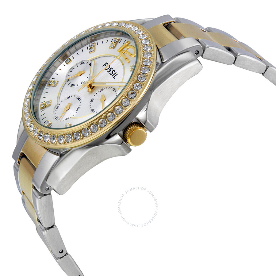 Fossil Riley Fossil Riley Multi Function Two Tone Ladies Watch Es3204