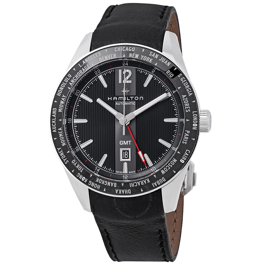 Cluse Herrenuhr Hamilton Broadway Gmt Black Dial Automatic Men S Limited Edition Watch H43725731