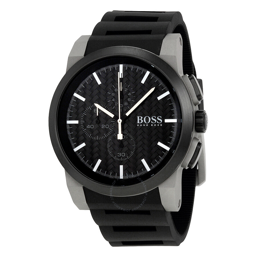 Hugo Boss Uhren Herren Hugo Boss Neo Chronograph Black Dial Black Silicone Men's