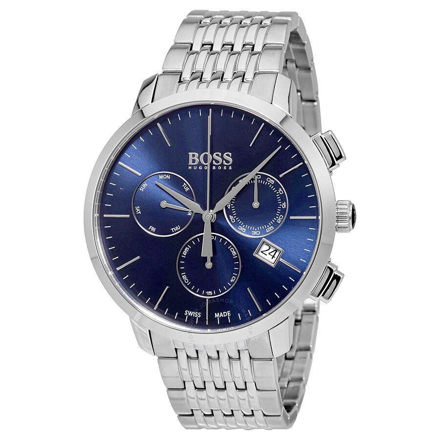 Hugo Boss Uhren Herren Hugo Boss Swiss Made Slim Chronograph Men's Watch 1513269
