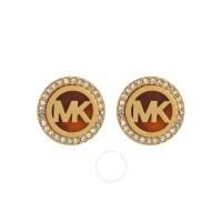 Michael Kors MK Logo Gold-Tone Stud Earrings MKJ2943710 ...