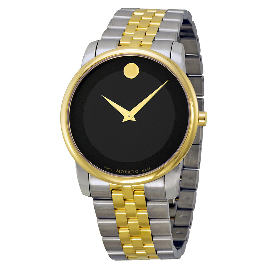 Movado Museum Movado Museum Black Dial Two-tone Stainless Steel Men's