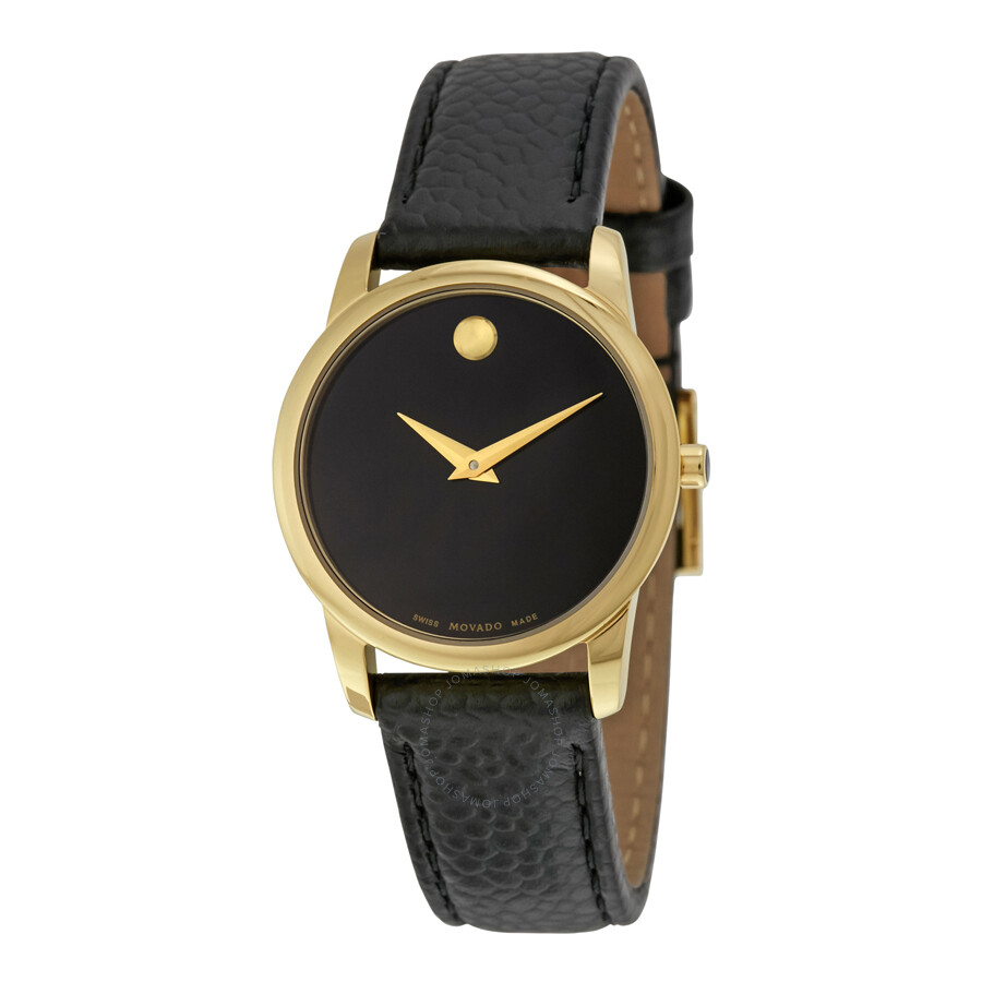Movado Museum Movado Museum Classic Black Dial Leather Ladies Watch