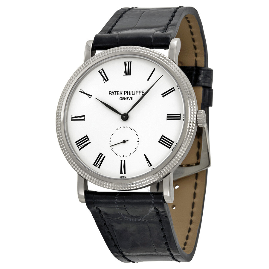 P Philippe Watch Patek Philippe Calatrava White Dial 18 Kt White Gold Men S Watch 5119g
