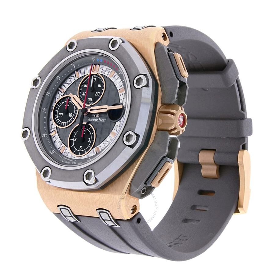 Tapisserie Om Pre Owned Audemars Piguet Royal Oak Offshore Chronograph Automatic Men S Watch 26568om Oo A004ca 01