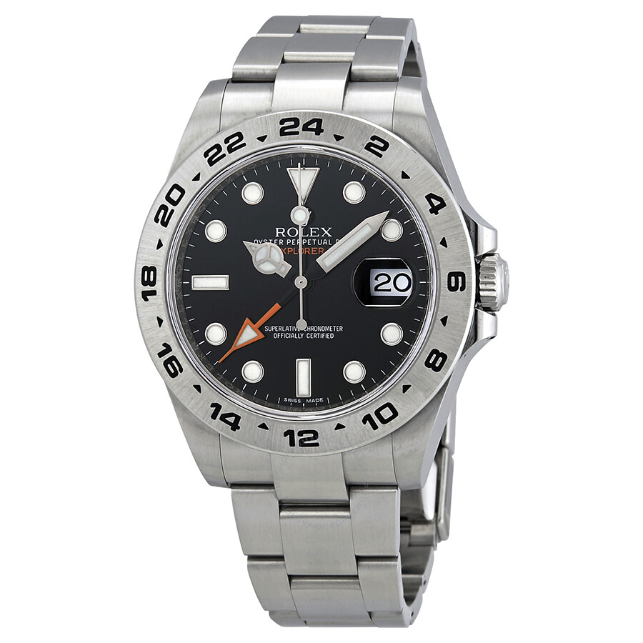 Rolex Explorer Pre Owned Rolex Explorer Ii Black Dial Stainless Steel Oyster Bracelet Automatic Men S Watch 216570bkso