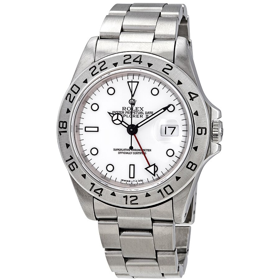 Rolex Explorer Pre Owned Rolex Explorer Ii White Dial Stainless Steel Oyster Bracelet Automatic Men S Watch 16570wso