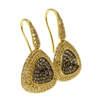 Roberto Coin Capri Plus 18K Yellow Gold Diamond Earrings ...