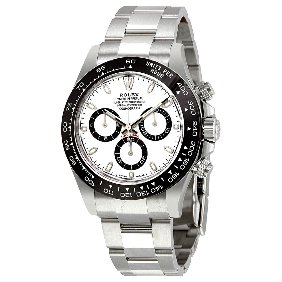 Steel Rolex Rolex Cosmograph Daytona White Dial Stainless Steel Oyster Men S Watch 116500wso