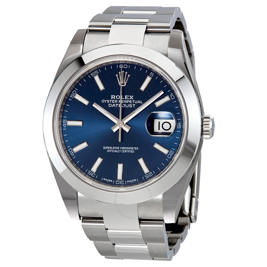 Steel Rolex Rolex Datejust 41 Blue Dial Stainless Steel Men S Watch 126300blso