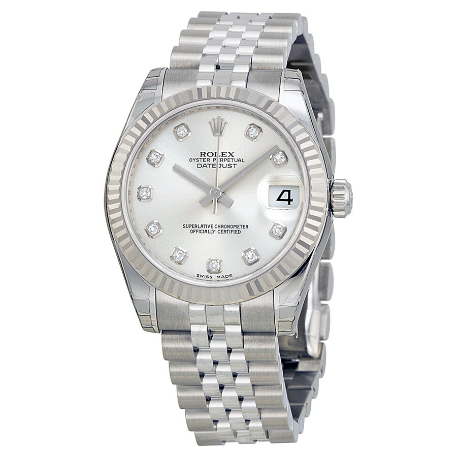 Stainless Rolex Rolex Datejust Lady 31 Silver With 11 Diamonds Dial Stainless Steel Jubilee Bracelet Automatic Watch 178274sdj