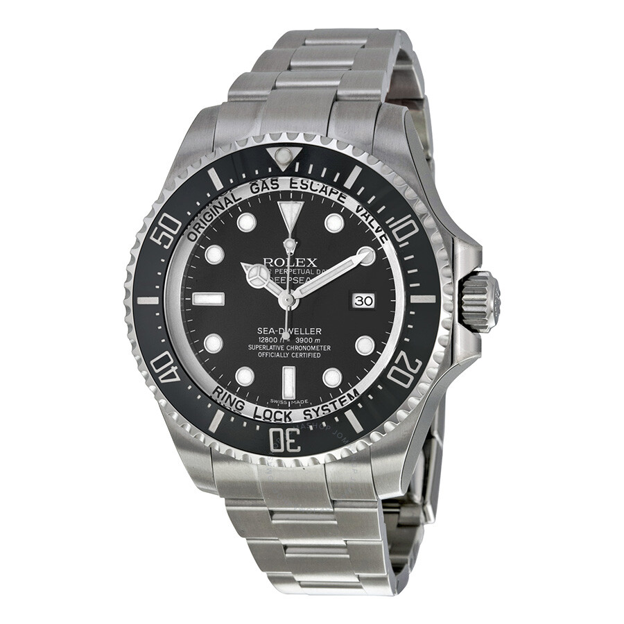 Stainless Rolex Rolex Deepsea Black Dial Stainless Steel Oyster Bracelet Automatic Men S Watch 116660bkso