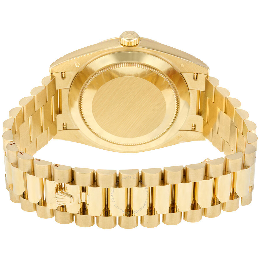 Gold S Rolex Oyster Perpetual 18k Yellow Gold Diamond Men S Automatic President Watch 228238bkdp