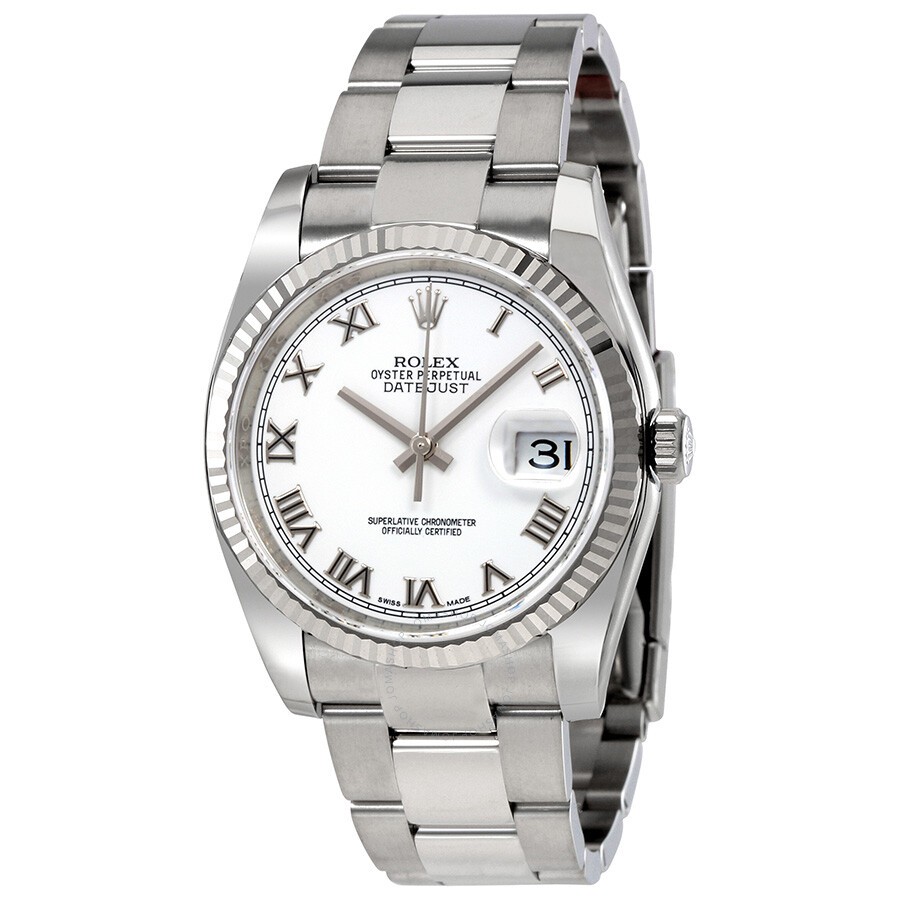 Stainless Rolex Rolex Oyster Perpetual 36 Mm White Dial Stainless Steel Bracelet Automatic Men S Watch 116234wro