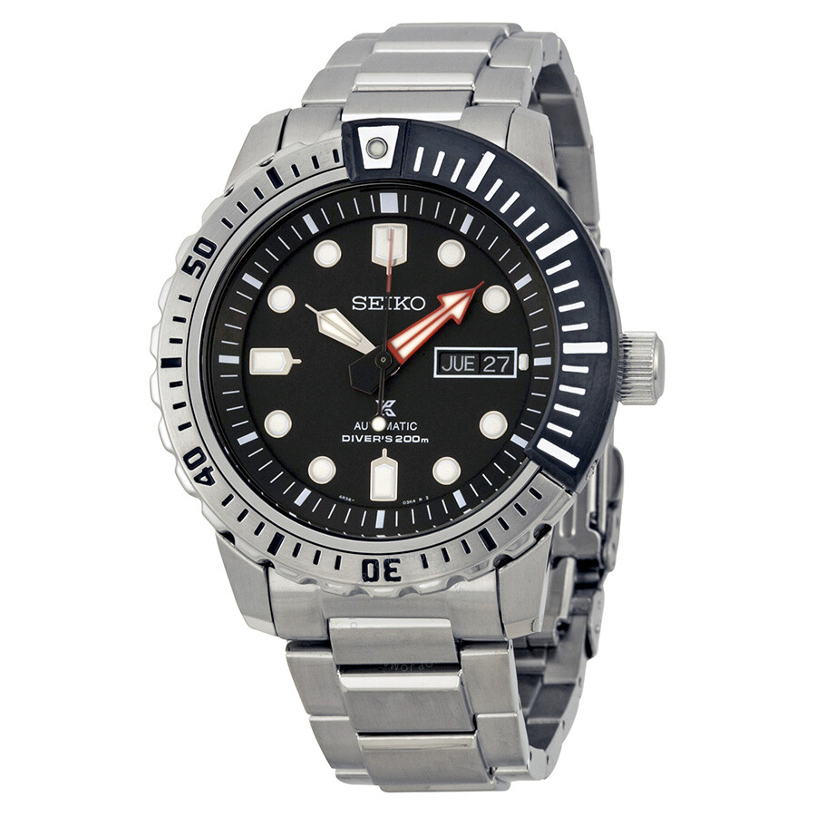 Seiko Srp Seiko Divers Automatic Black Dial Stainless Steel Men S Watch Srp587