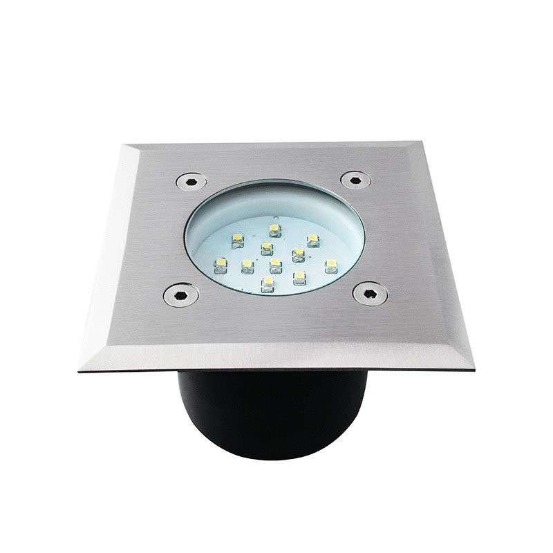 Spot Led Encastrable Sol Carré 1 Watt Etanche