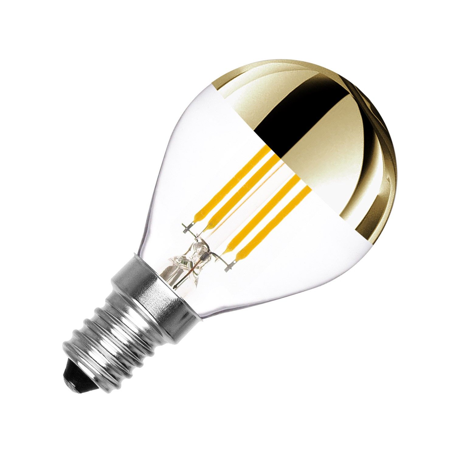 E14 Birne Dimmbare E14 Led Birne Filament Gold Reflect G45 3 5w