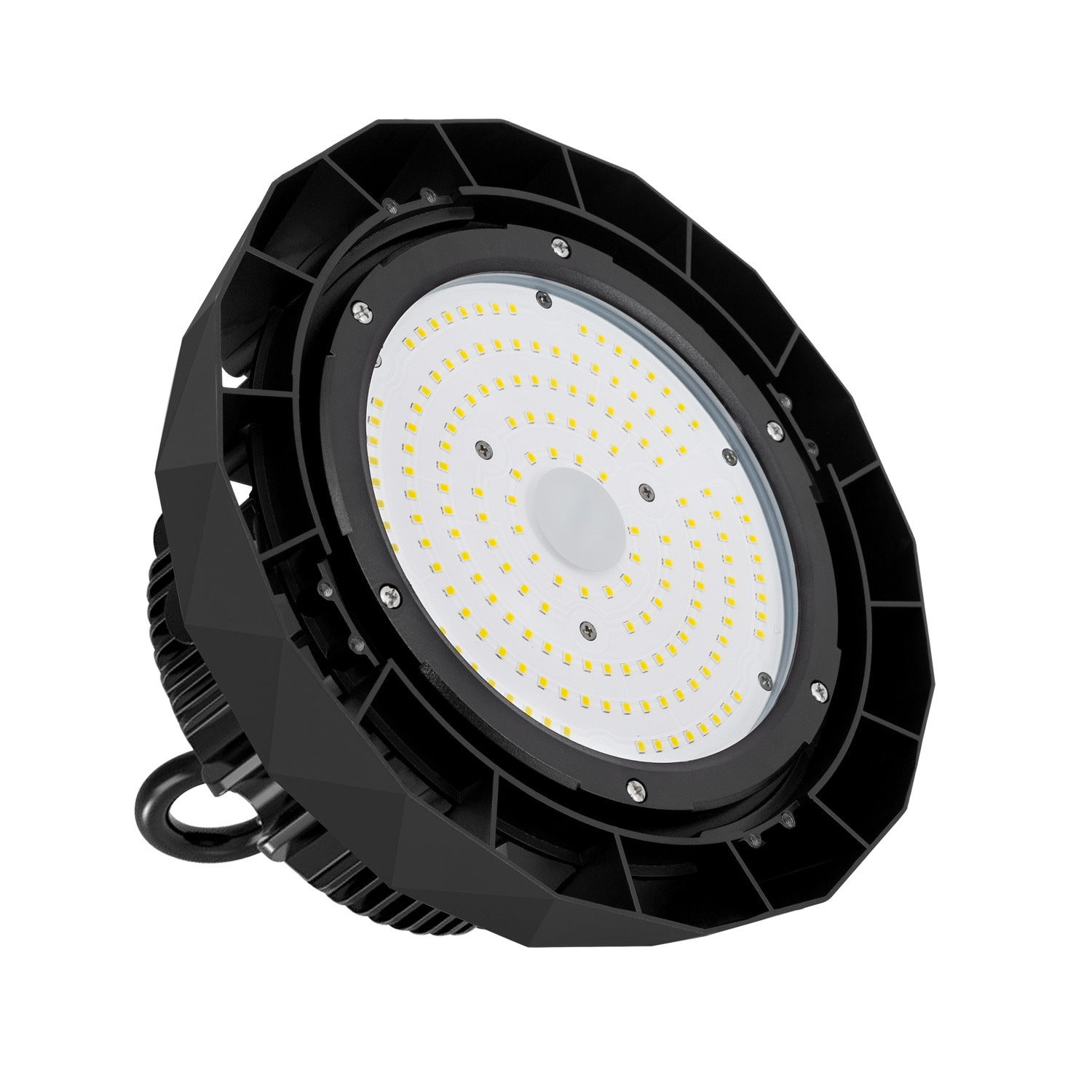 Eclairage Led Batiment Industriel Cloche Led Samsung Ufo 100w 135lm W Lifud Dimmable Ledkia