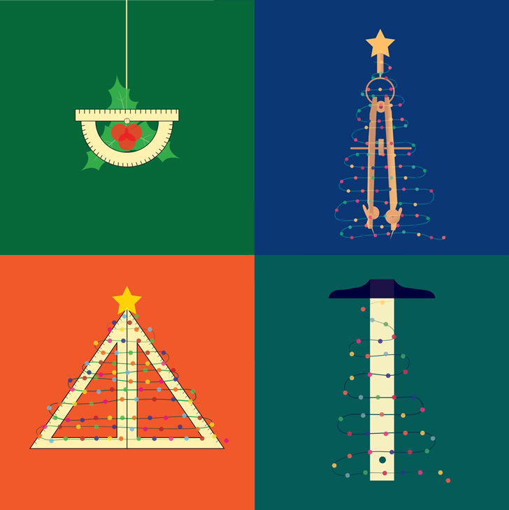 Illusion Wallpaper 3d 6 Architectural Christmas Posters And Diy Cards