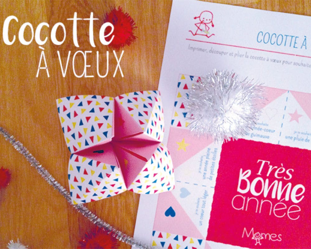 Decoration Nouvel An 2019 La Carte De Vœux Cocotte - Momes.net