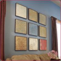 Do-It-Yourself Scrapbook Paper Wall Art - Money Saving Mom