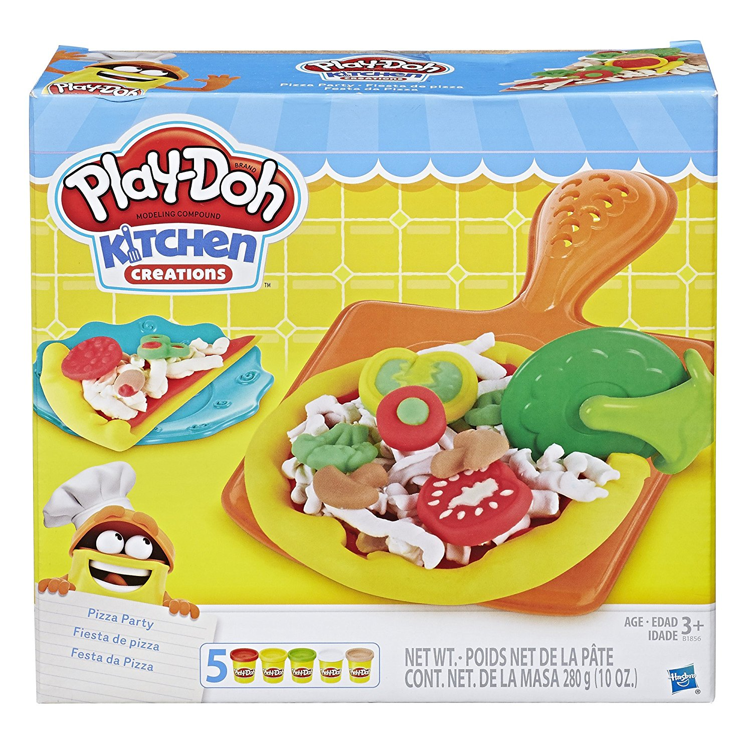 Play Doh Küche Knete Set Amazon Play Doh Kitchen Creations Pizza Party Just 6