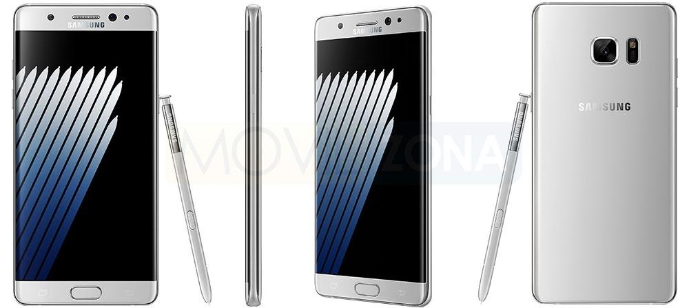 Samsung Galaxy Note 7 fotos oficiales en plateado