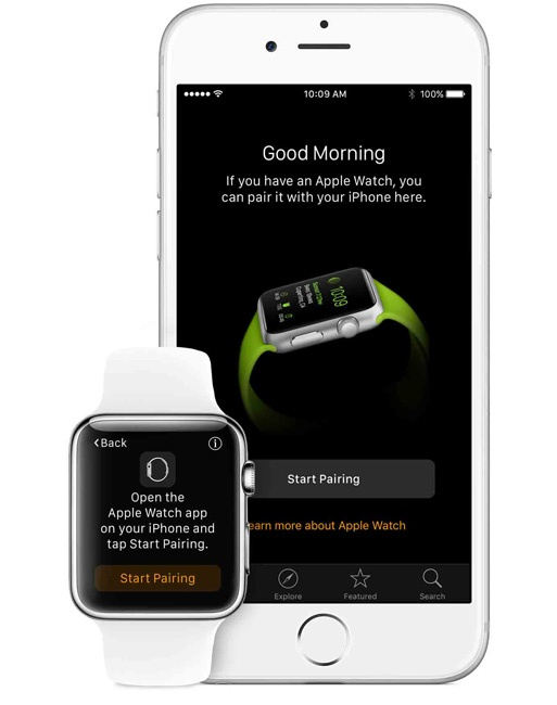 Sincronización de un Apple Watch con un iPhone mediante Bluetooth