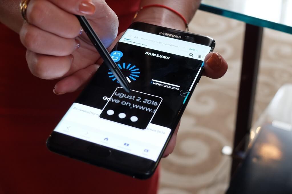 Samsung Galaxy Note 7 negro lupa
