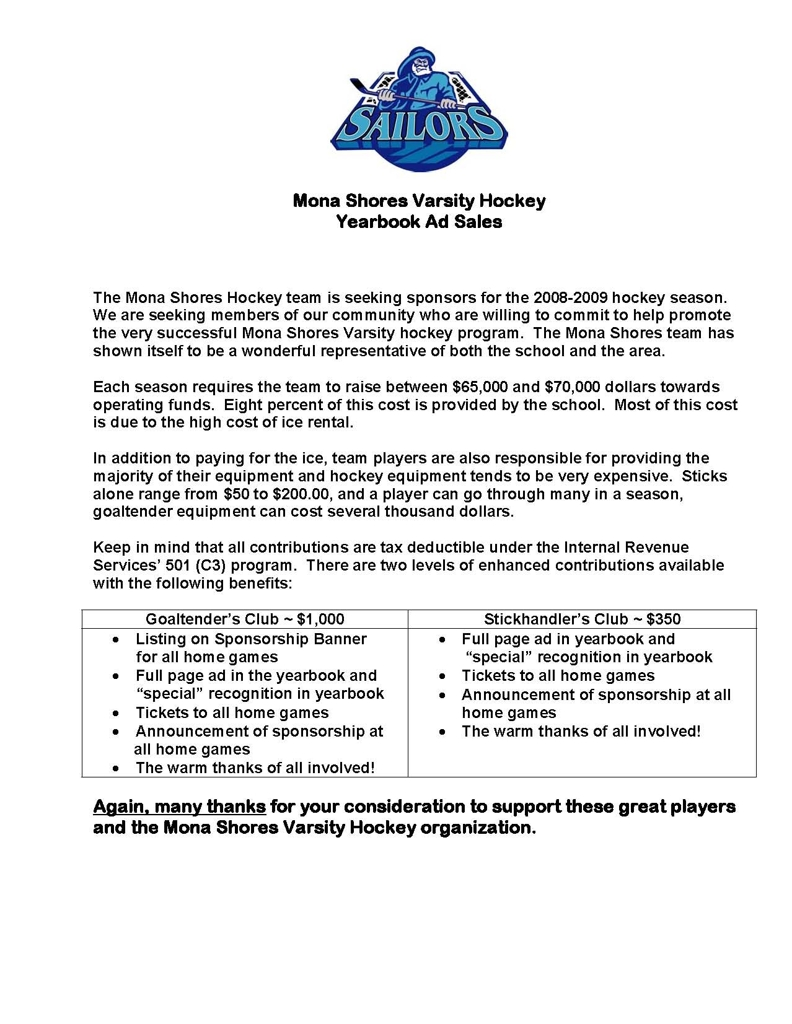 sponsorship letter hockey how to write a letter requesting sponsorship with sample letter sports team sponsorship