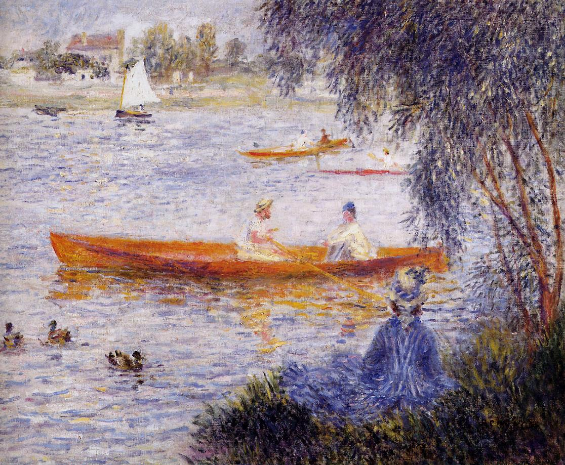 Photo Argenteuil Boating At Argenteuil 1873