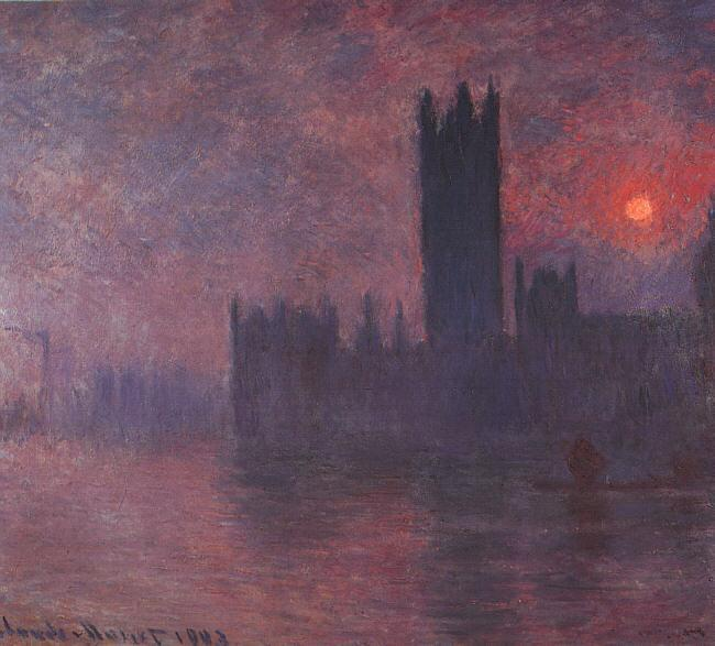 Houses of Parliament 1900-1901 Painting Claude Oscar Monet Oil