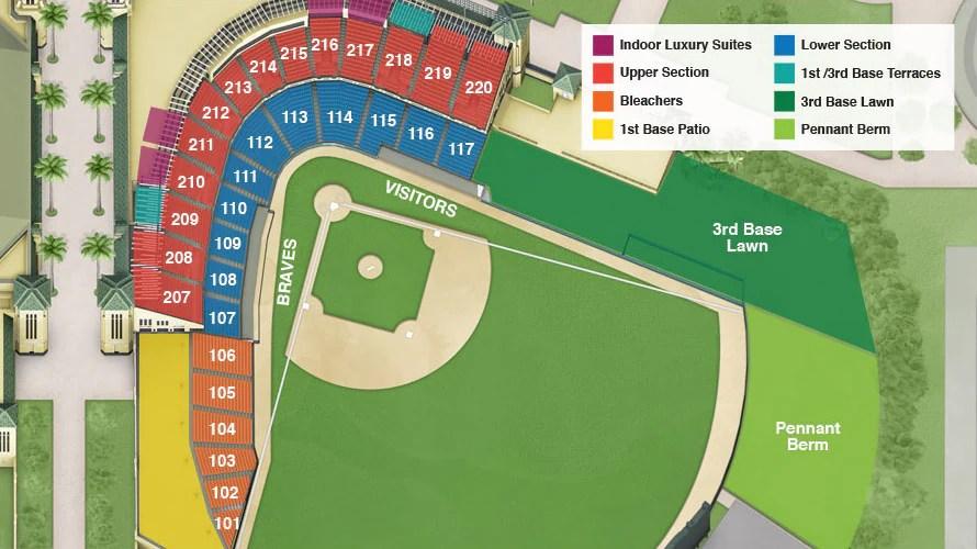 Atlanta Braves Spring Training Suites Hospitalities ESPN