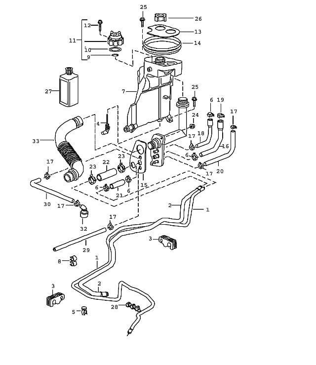 porsche boxster engine coolant leak