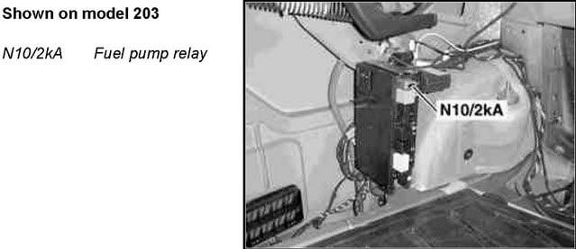 Mercedes-Benz W203 Crankshaft Positioning Sensor Replacement - (2001