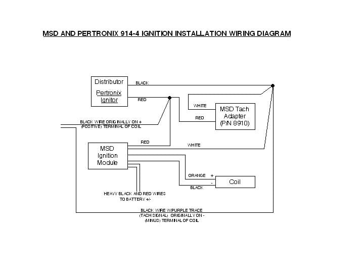 Msd Coil Tach Wiring Wiring Diagram